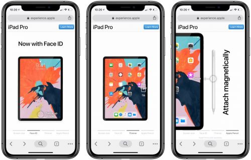 Apple's Interactive Mobile Website Highlights New Features of 2018 iPad Pro