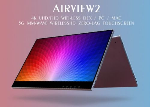 AirView2 wireless, touchscreen 4K portable monitor