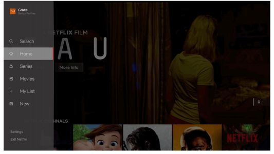 Netflix shows off redesigned TV app with new slide-out navigation menu