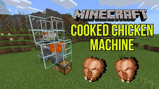 Minecraft Automatic Cooked Chicken Farm Guide