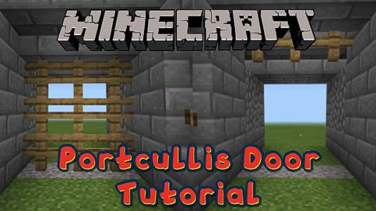 Minecraft: How to Build a Working Portcullis For Your Castle Entrance
