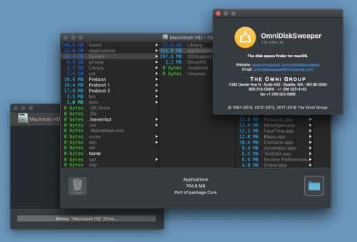 Disk cleanup app OmniDiskSweeper joins the Catalina gang