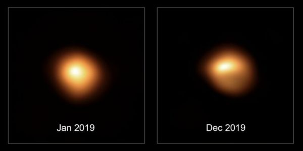 New image shows Betelgeuse isn't dimming evenly