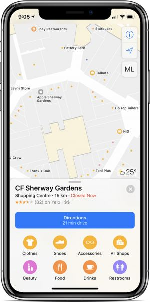 Apple Maps Now Features Indoor Maps at 18 Shopping Malls in Canada
